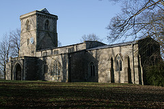 Bledlow Church in winter