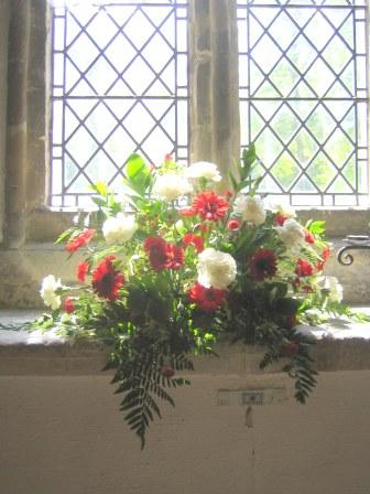 Flowers in Bledlow Church, Whit Sunday 2012