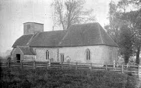 Saunderton parish church before restoration